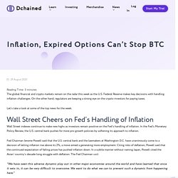 Inflation, Expired Options Can't Stop BTC - Dchained