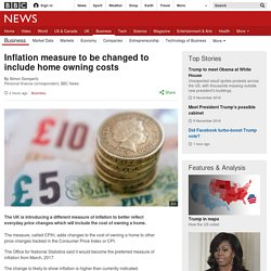 Inflation measure to be changed to include home owning costs