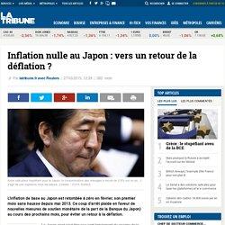 Inflation nulle au Japon: vers un retour de la déflation ?