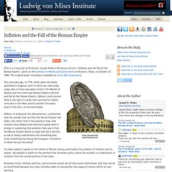 Inflation and the Fall of the Roman Empire - Joseph R. Peden