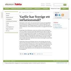 Varför har Sverige ett inflationsmål?