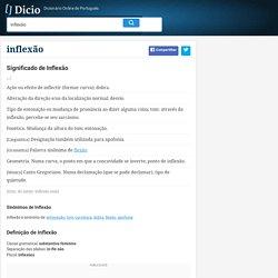 Inflexão - Dicionário Online de Português