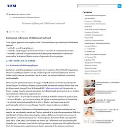 Factueurs influençant l'allaitement maternel