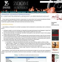 2 - LES FACTEURS INFLUENÇANT LA DÉCISION D'ACHAT - Décision Marketing Appropriée