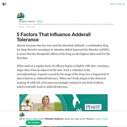 5 Factors That Influence Adderall Tolerance