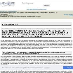 Influence du packaging sur l'achat des consommateurs: cas de Malta Guinness au Cameroun - Patrick Félicien NKAMBA
