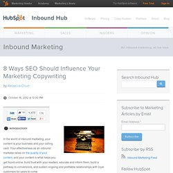8 Ways SEO Should Influence Your Marketing Copywriting