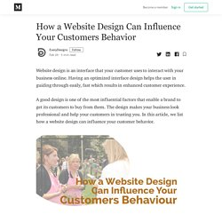 How a Website Design Can Influence Your Customers Behavior