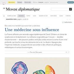 Une médecine sous influence, par Philippe Descamps (Le Monde diplomatique, novembre 2020)