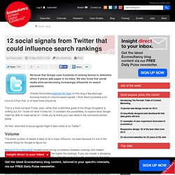 12 social signals from Twitter that could influence search rankings