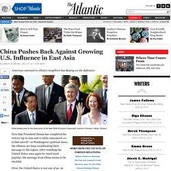 China Pushes Back Against Growing U.S. Influence in East Asia - Elizabeth Economy