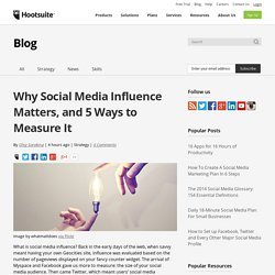 How To Measure Social Media Influence