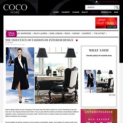 The Influence of Fashion on Interior Design - CocoMode