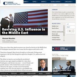 Reviving U.S. Influence in the Middle East