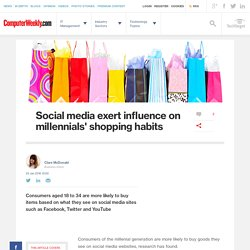 Social media exert influence on millennials' shopping habits