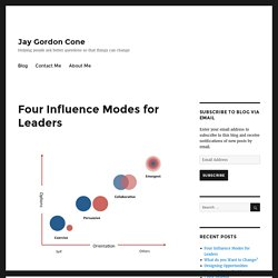 Four Influence Modes for Leaders – Jay Gordon Cone