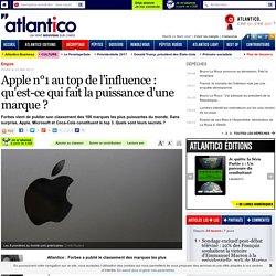 Apple n°1 au top de l'influence : qu'est-ce qui fait la puissance d'une marque ?