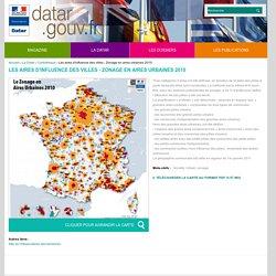 Les aires d'influence des villes - Zonage en aires urbaines 2010
