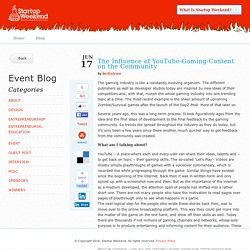 The Influence of YouTube-Gaming-Content on the Community