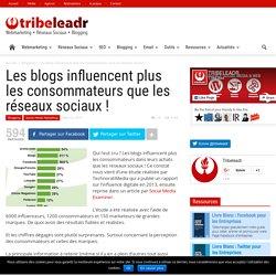 Les blogs influencent plus les consommateurs que les réseaux sociaux !