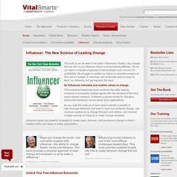 Influencer Book - VitalSmarts