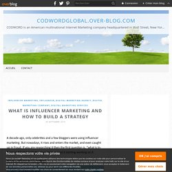 What is Influencer Marketing and How to Build a Strategy - codwordglobal.over-blog.com