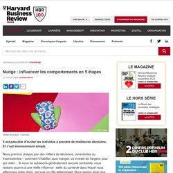 Nudge : influencer les comportements en 5 étapes