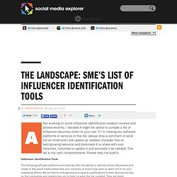 List of Influencer Identification Tools