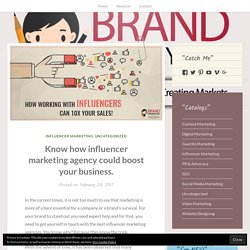 Know how influencer marketing agency could boost your business. – BRAND MOMMY
