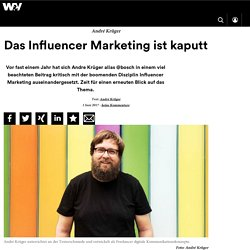 Das Influencer Marketing ist kaputt