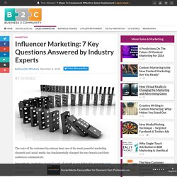 Influencer Marketing: 7 Key Questions Answered by Industry Experts
