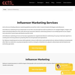 Digital Influencer Marketing Services - eetti