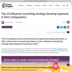 Top 10 influencer marketing strategy boosting segments