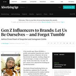 Brand Advice From Generation Z Social-Media Influencers