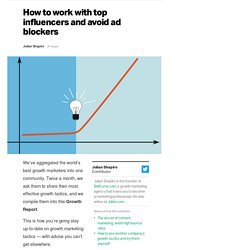 How to work with top influencers and avoid ad blockers