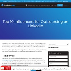 Top 10 Influencers for Outsourcing on LinkedIn