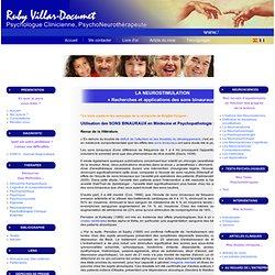 Thérapie par les Sons et Lumières: influences sur l'équilibre nerveux. Recherches, Applications