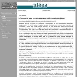 IDEES - Influences de la personne enseignante sur la réussite des élèves