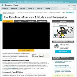 How Emotion Influences Attitudes and Persuasion - Free Social Psychology Video