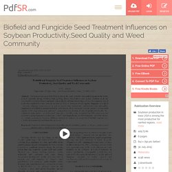 Soybean Seed Treatment & Soybean Productivity