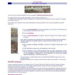 Influences des sols