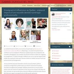 Enseignant et influenceur au Québec : enjeux et impacts d'une nouvelle identité numérique professionnelle