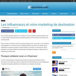 Les influenceurs et votre marketing de destination