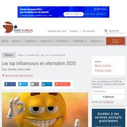 Les top influenceurs en eformation 2020 - Thot Cursus
