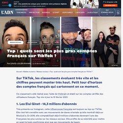 Le top 10 français sur TikTok