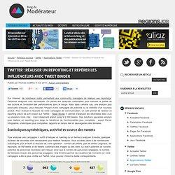 Twitter : réaliser un reporting et repérer les influenceurs avec Tweet Binder