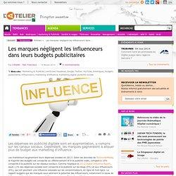 Les marques négligent les influenceurs dans leurs budgets publicitaires