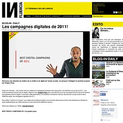 BLOG-IN / DAILY - Les campagnes digitales de 2011!