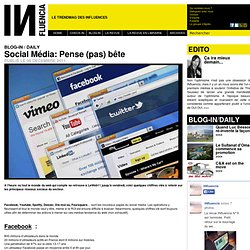 BLOG-IN / DAILY - Social Média: Pense (pas) bête