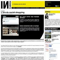 Etudes - L'ère du social shopping